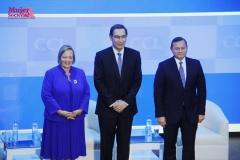Yolanda Torreani, Presidenta de la CCL y el Presidente de la República, Martín Vizcarra