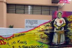 Mural hecho en homenaje a las mujeres trabajadoras