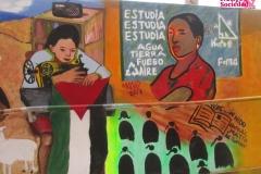 Mural sobre los estudios de las mujeres
