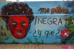 Mural sobre el racismo