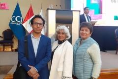 Arturo Coral (CEO de Startup Hero Perú), Delia Barriga (Directora de Fab Lab) y Zoila Hernández (CEO Fundadora de CCYAMIS)