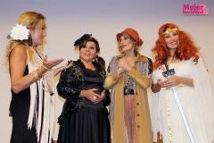 Foto grupal de las actrices de la obra Monólogos Femeninos